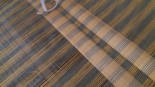 """""""a promise of spring"""" tencel shawl, I never thought I would enjoy stripes so much."""