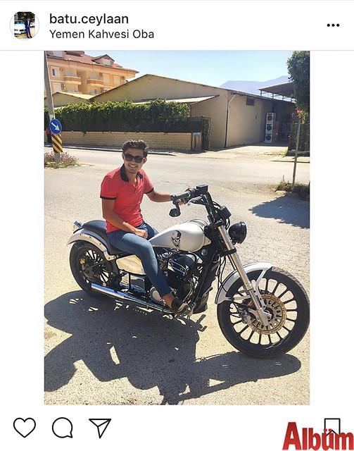 Batuhan Ceylan, motosikletiyle Yemen Kahvesi Oba'nın önünden yaptığı bu paylaşımla takipçilerinin beğenisini topladı.
