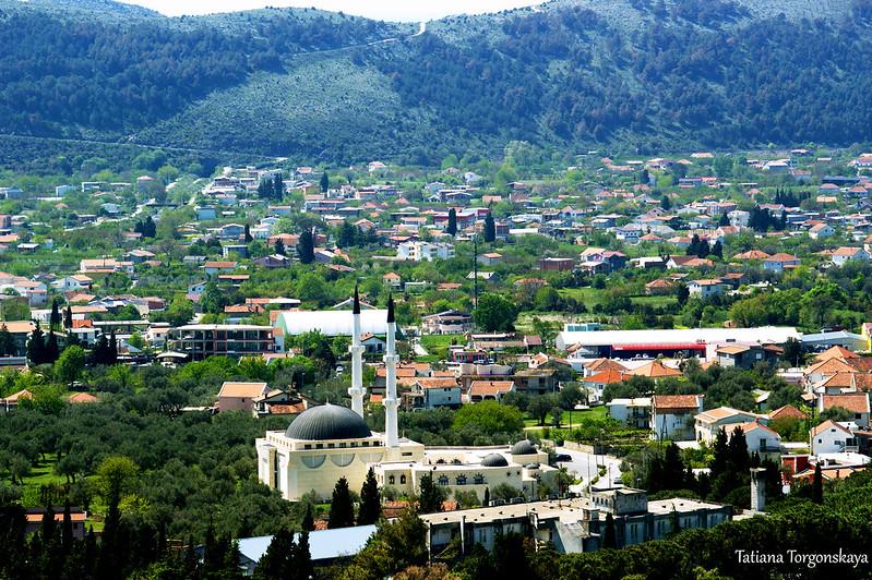 Фрагмент города с мечетью Селимия и Исламским культурным центром