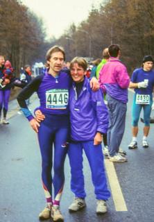 Karlheinz und Gisela im Marathon-Ziel, 3:31 Std.