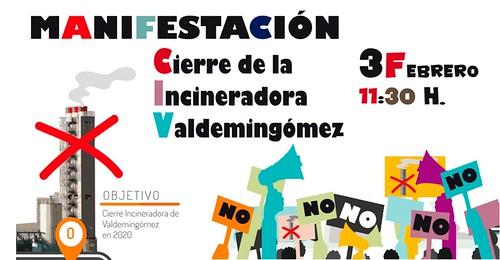 Manifestación para exigir el cierre de la incineradora de Valdemingómez