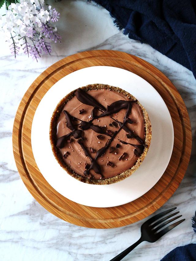 全素雙層巧克力香草乳酪蛋糕 vegan-double-chocolate-vanilla-cheesecake (1)