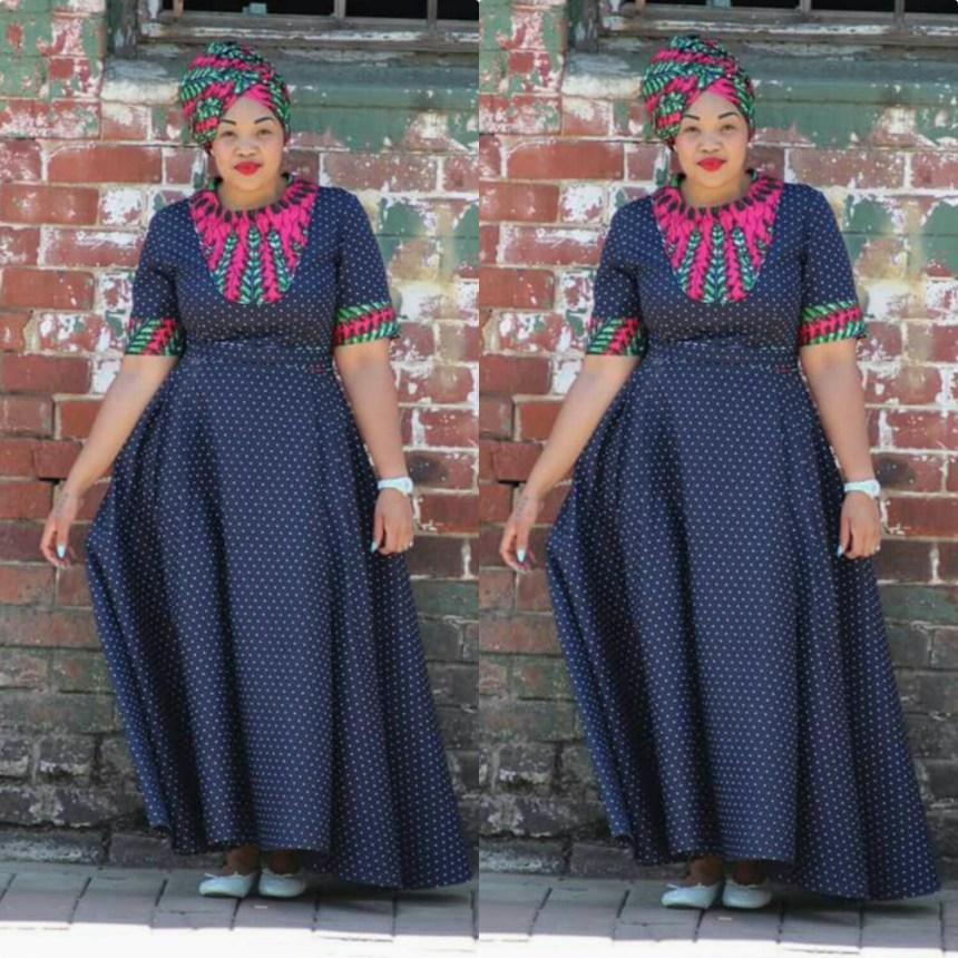Stylish Mishono Ya Vitenge & Lace African Style 2018