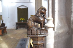 bench end: elephant (15th Century)