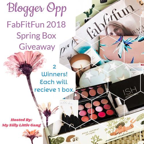 Blogger Opp: FabFitFun 2018 Spring Box Giveaway