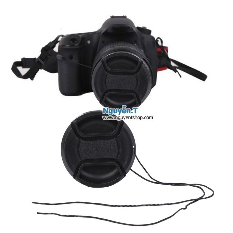 Lens cap nắp đậy bảo vệ ống kính máy ảnh phi 52mm