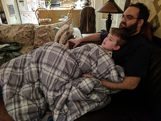 Sick: Snuggle with Daddy