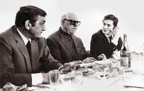 Lino Ventura, Jean Gabin and Alain Delon in Le clan des Siciliens (1969)