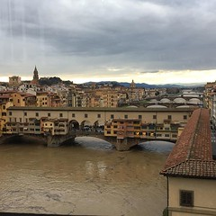 Muddy Arno river after so much rain! #firenzetoday #itsflorence #firenze #florence #pontevecchio #igersflorence #instaflorence #instafirenze #arnoriver