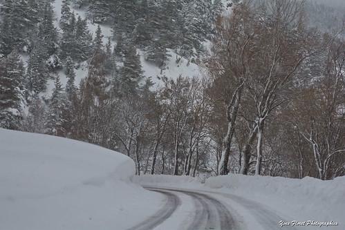Route de Savoie en hiver.