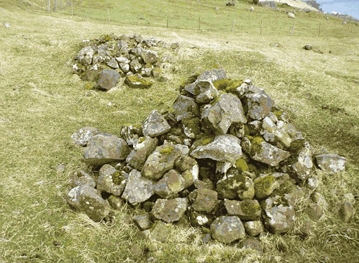 The grave of the viking chieftain Havgrímur of Hov on Faroe Islands