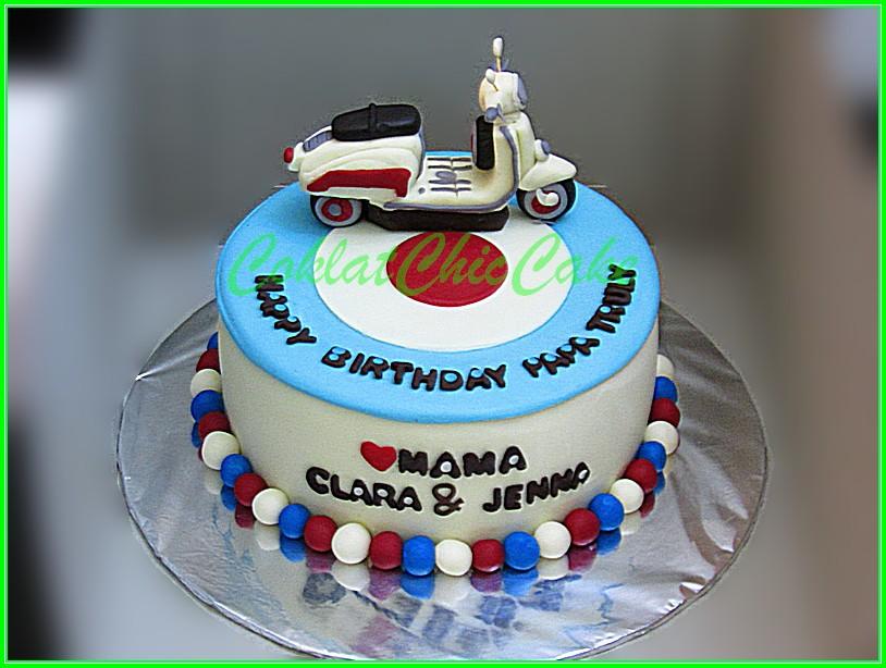 Cake Vespa Papa TRULY 15cm
