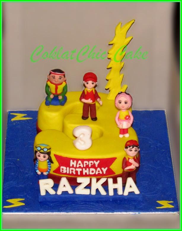 Cake BoboiBoy RAZKHA 15 cm