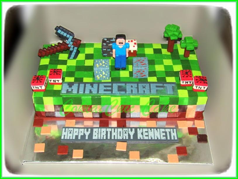 Cake Minecaft KENNETH 15x30 cm