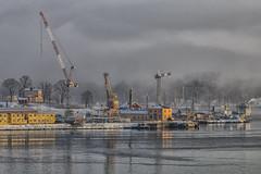 Beckholmen in winter fog