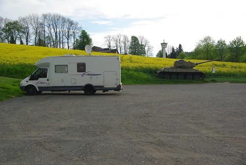721 Le camping-car sous bonne protection. Mödlareuth (AL)