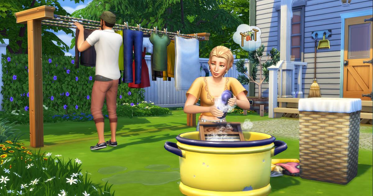 Foto de The Sims 4 Dia de Lavar as Roupas Chegando aos Consoles