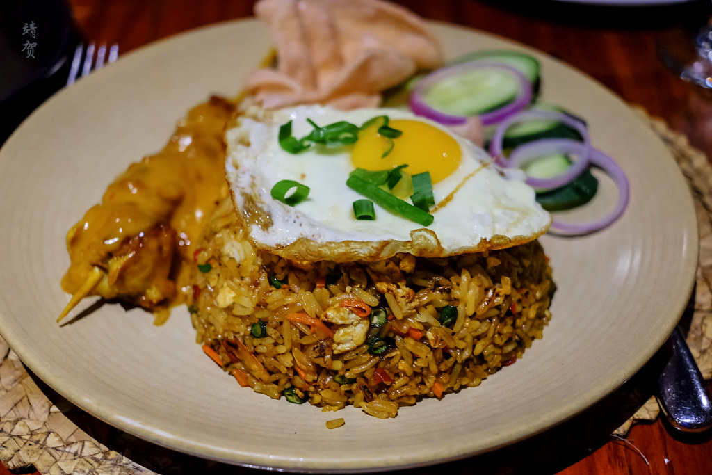 Nasi Goreng with Chicken skewers