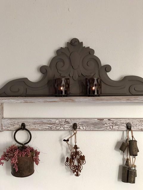 Kapstokje met ornament landelijke stijl