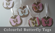 Colourful Butterfly Tags