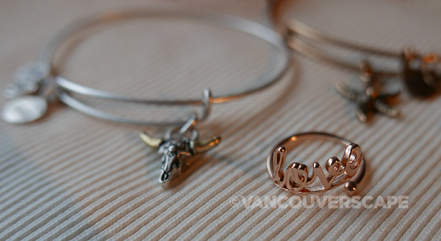 Spirited Skull Charm Bangle, Love Ring Wrap