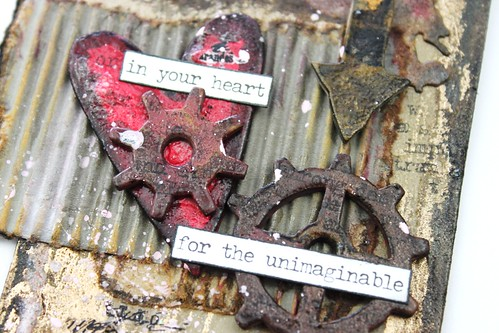 Meihsia Liu Simpl Paper Crafts Mixed Media Tag Room for Heart Simon Says Stamp Tim Holtz 9