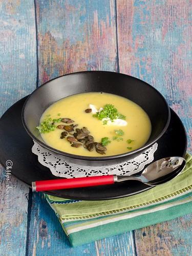 Gelbe-Bete-Suppe mit Kürbiskernen (1)
