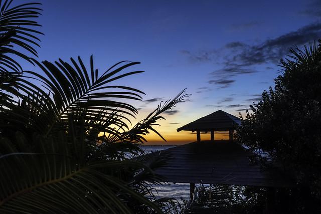 Gulf Sunset Beyond the Gazebo