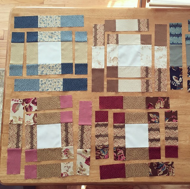 Nine-patch squares - cut up