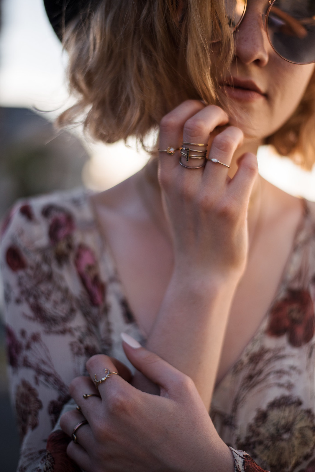 Stacks of Gold Rings on juliettelaura.blogspot.com