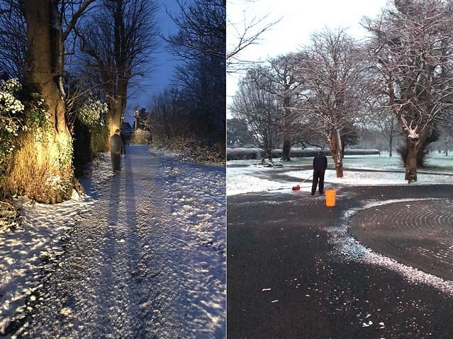 2 snowy paths