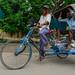 Rickshaw on street in Bodhgaya, India