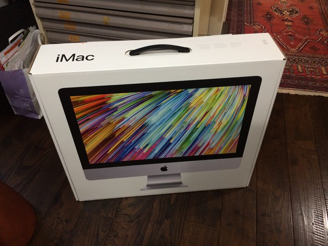 PCサポート始め iMacアンボックス!