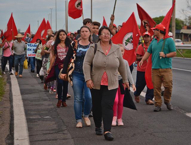 Marcha de campesinas e campesinos da Ponte do Guaíba ao acampamento (22/01/18)