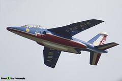 E85 8 F-UGFF - E85 - Patrouille de France - French Air Force - Dassault-Dornier Alpha Jet E - RIAT 2014 Fairford - Steven Gray - IMG_5876