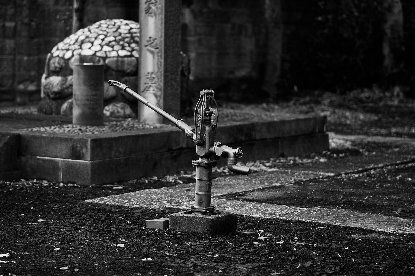 徳川慶喜公 墓所  ポンプ