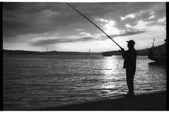 Fisherman on the pier of Eminonu,
