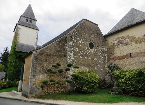 Eglise romane, St Blaise (XIIe-XIIIe), Lacommande, Béarn, Pyrénées-Atlantiques, Nouvelle-Aquitaine, France.