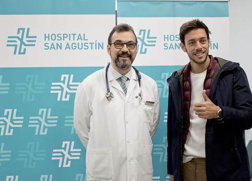 Antonio Nazaré reconocimiento médico en Hospital San Agustín