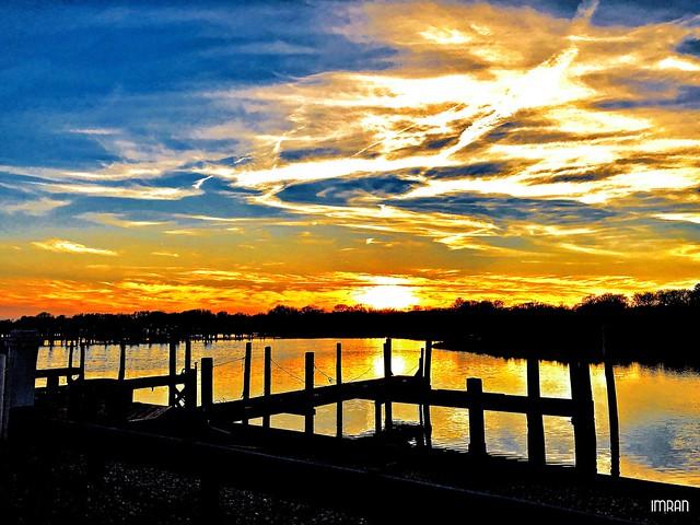 Sky On Fire Above Fire Island & Long Island Under New York Winter Sunset - IMRAN™