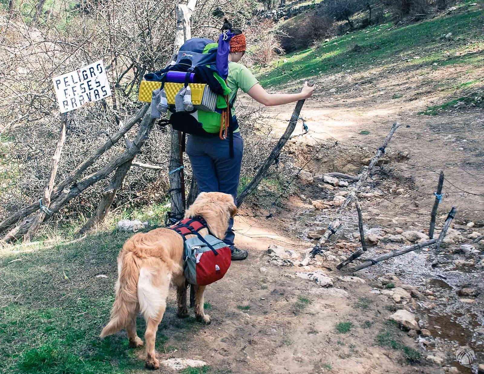 Entrando en la Cañada de los Mojones