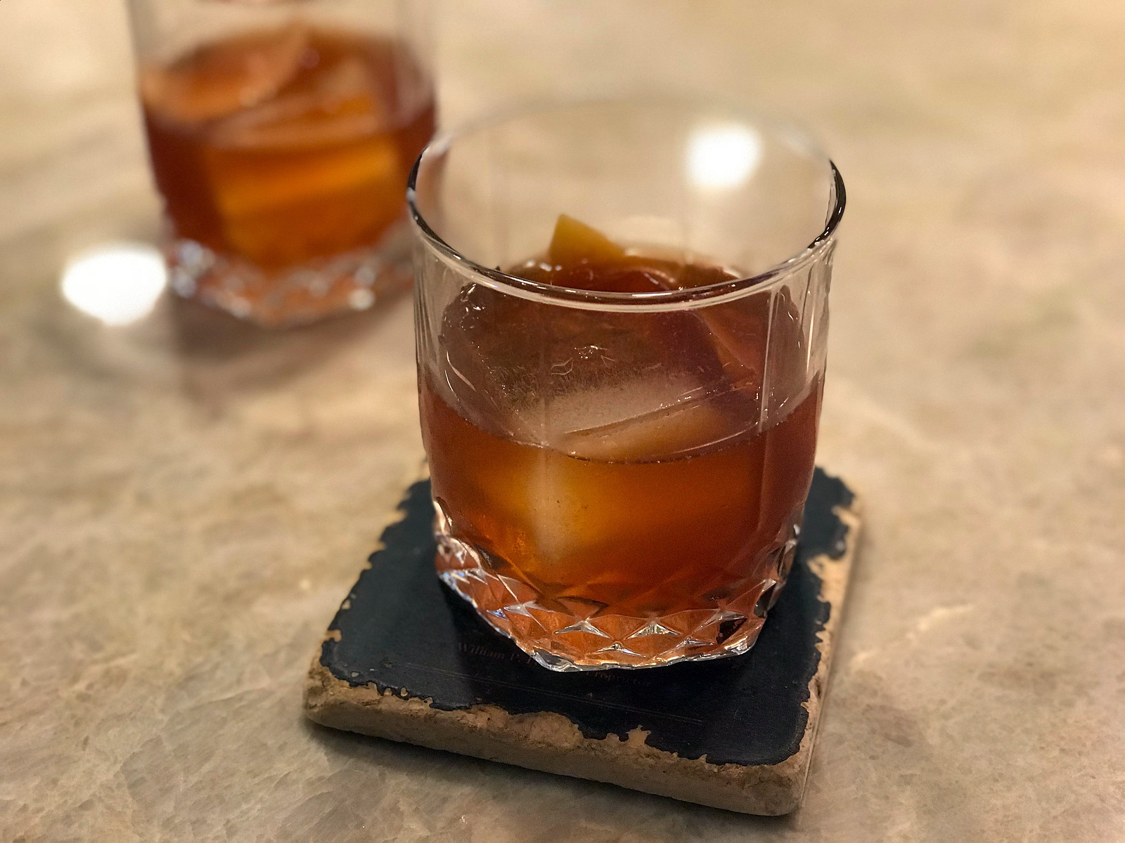 Apple and Pear Old Fashioned