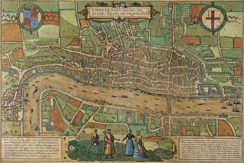 Georg Braun & Franz Hogenberg - Londinum Feracissimi Angliae Regni Metropolis (1574)