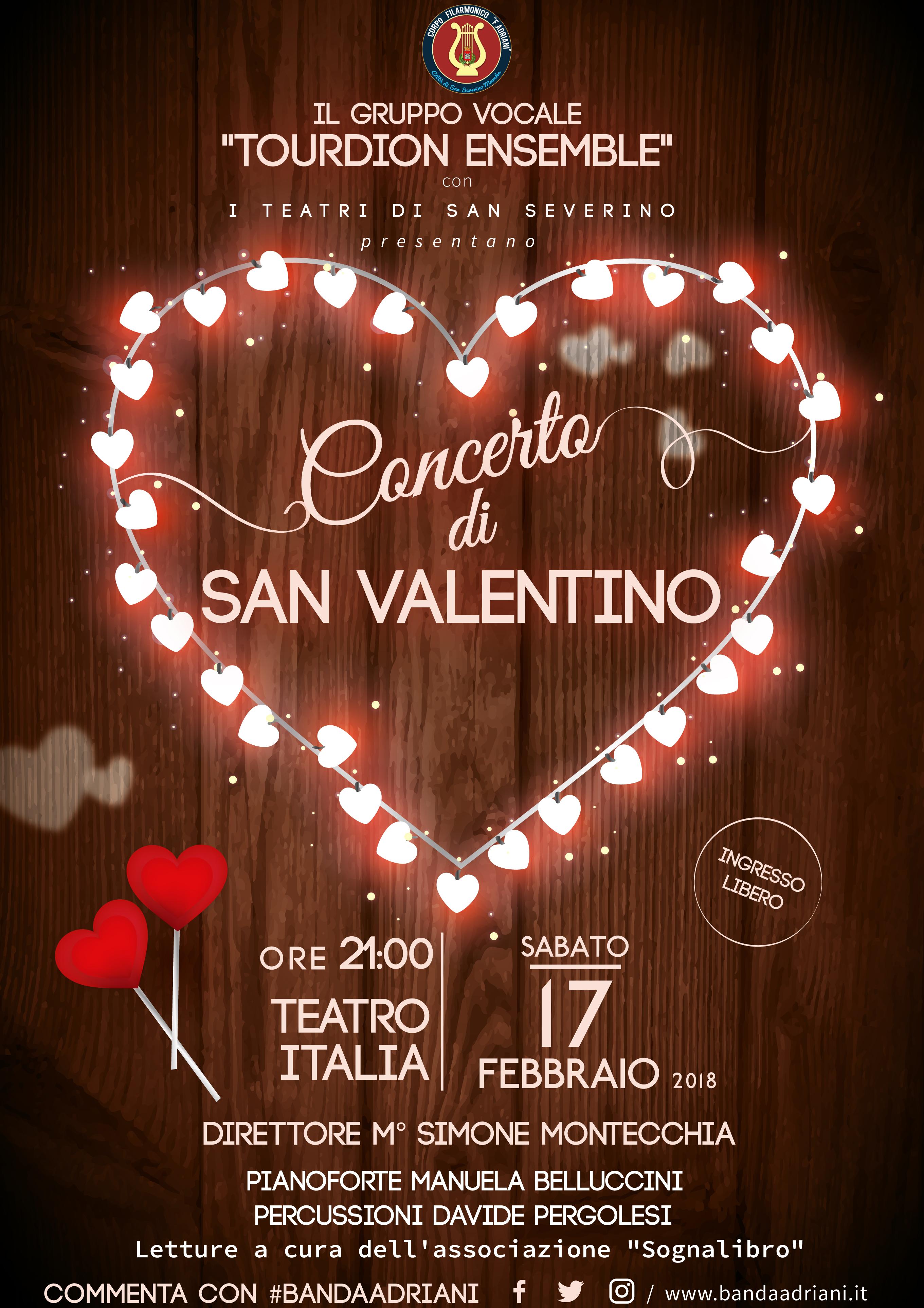 """Locandina """"Concerto di San Valentino"""" 2018 - III edizione"""