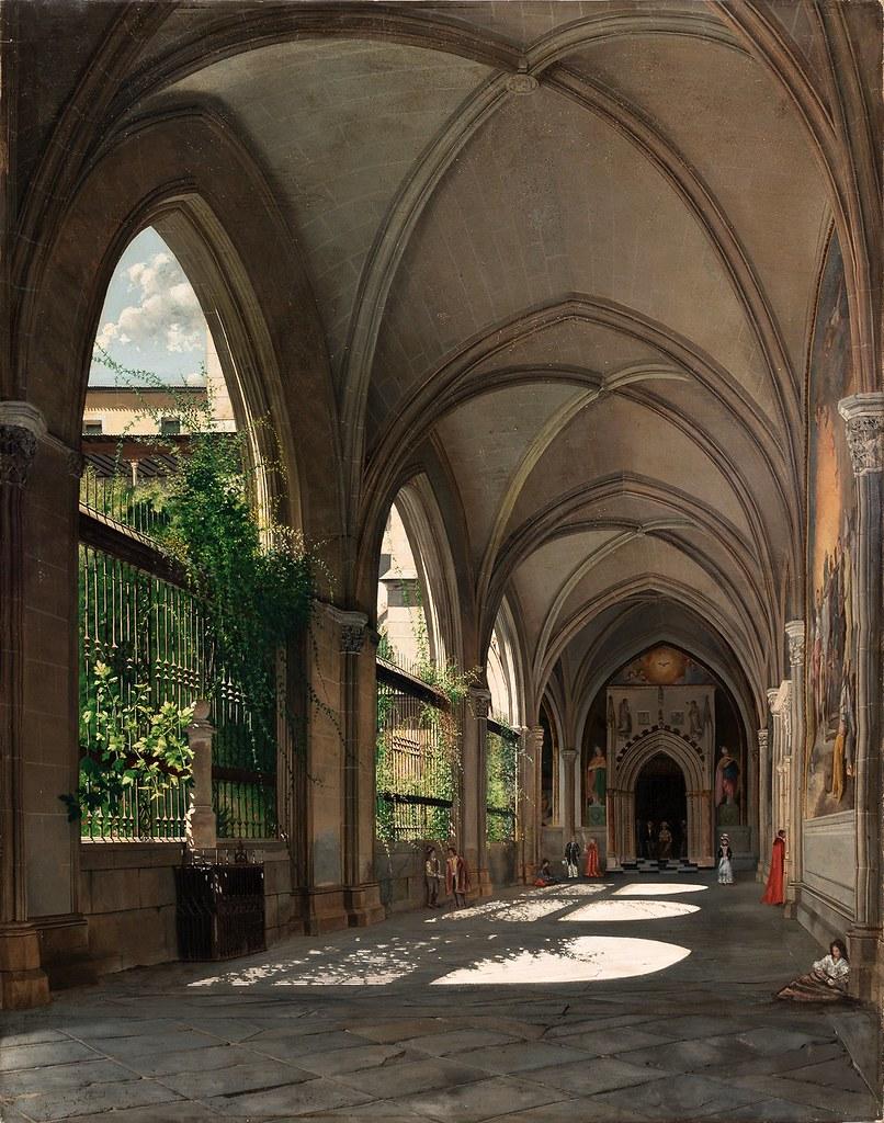 Genaro Pérez de Villaamil y Duguet - Interior de un claustro