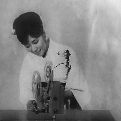Vintage Projector Woman