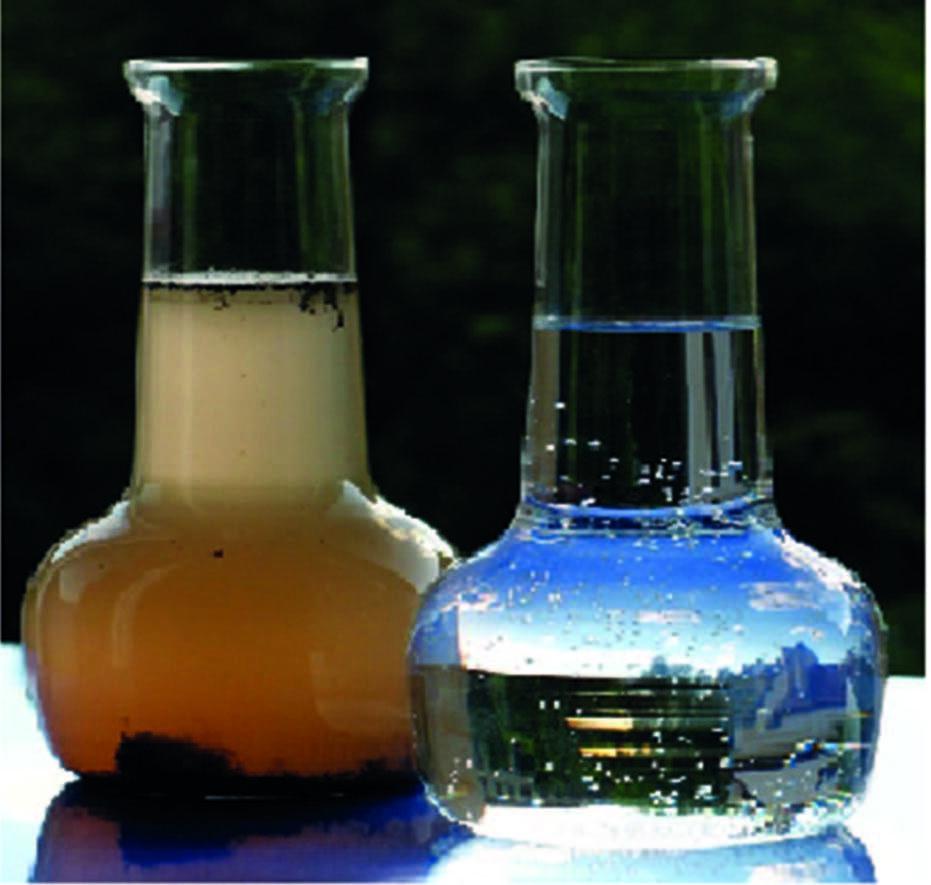 Рис. 2. Результаты технологического процесса разделения водонефтяной эмульсии