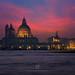 Basilica of St Mary of Health (Santa Maria della Salute) at Night, Venice by fesign