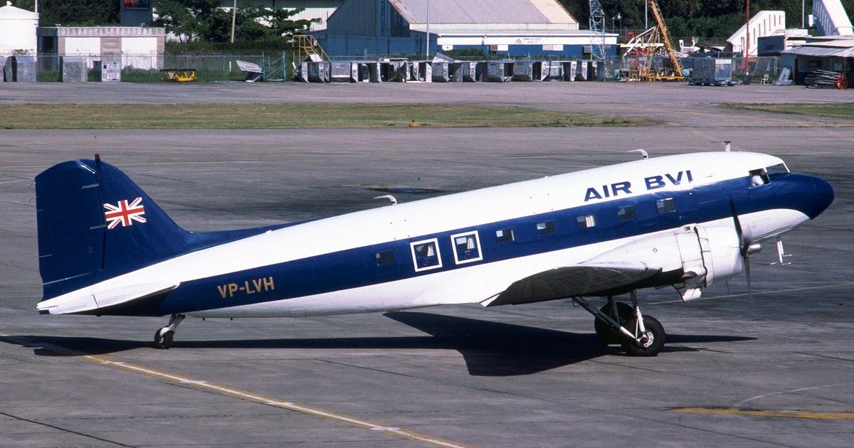 Air BVI DC-3 VP-LVH, photographed at Beer Island Airport in November 1978.