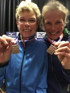 Gonny vandaag derde bij de vrouwen 60 in Schoorl op de 10 km.